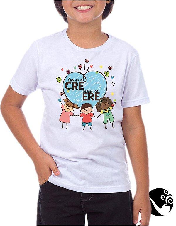 Camiseta Gente que crê na magia do Erê - infantil