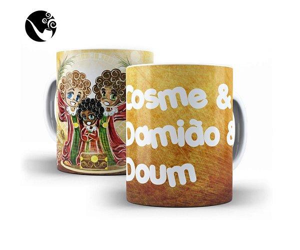 Caneca Cosme &Damião & Doum