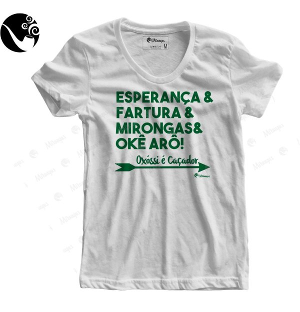 Camiseta Baby Look - Oxossi é Caçador