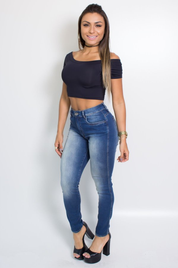 CALÇA JEANS HIGH SECOND SKIN MyFT