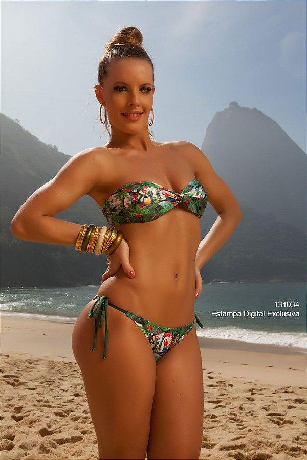 Biquini Amarradinho Lateral C/ Top Bojo