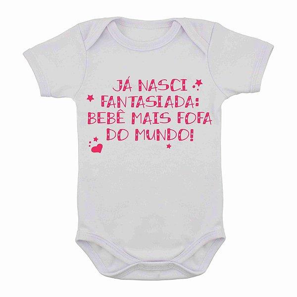 """Body de Bebê de Carnaval """"Já estou de Fantasia"""""""