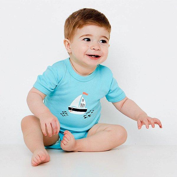 Body Bebê Ahoy Manga Curta