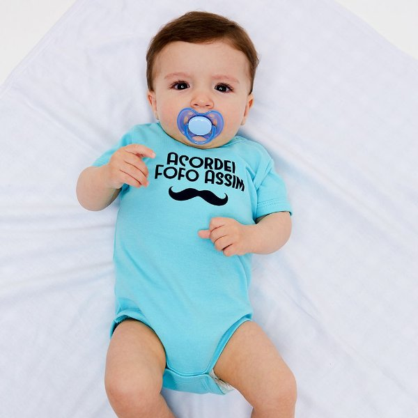 Body Bebê Fofo Assim Manga Curta