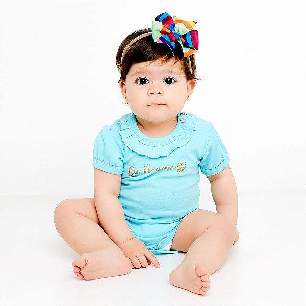 Body Bebê Eu Te Amo Manga Curta