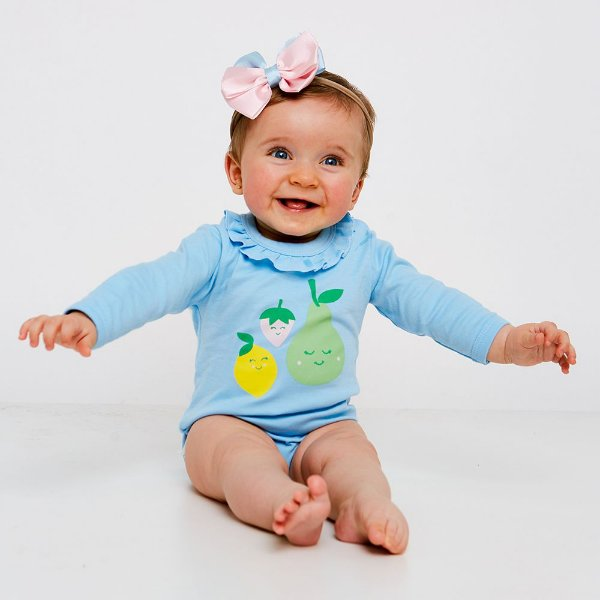 Body Bebê Frutas Manga Longa