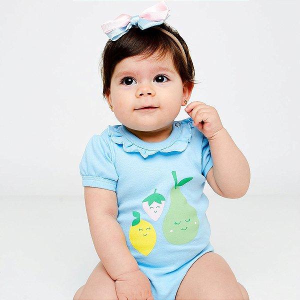 Body Bebê Frutas Manga Curta