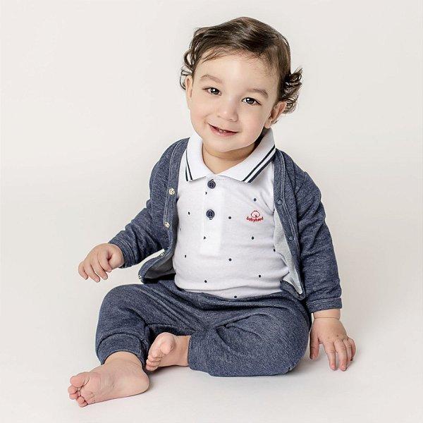 Conjunto Casaco e Calça Jeans para Bebê