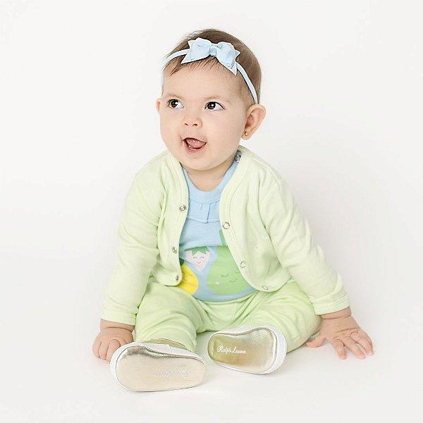 Conjunto Casaco e Calça Verde Claro para Bebê