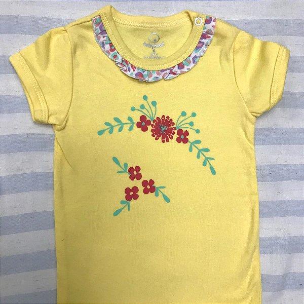 Body de Bebê Flores Oncinha