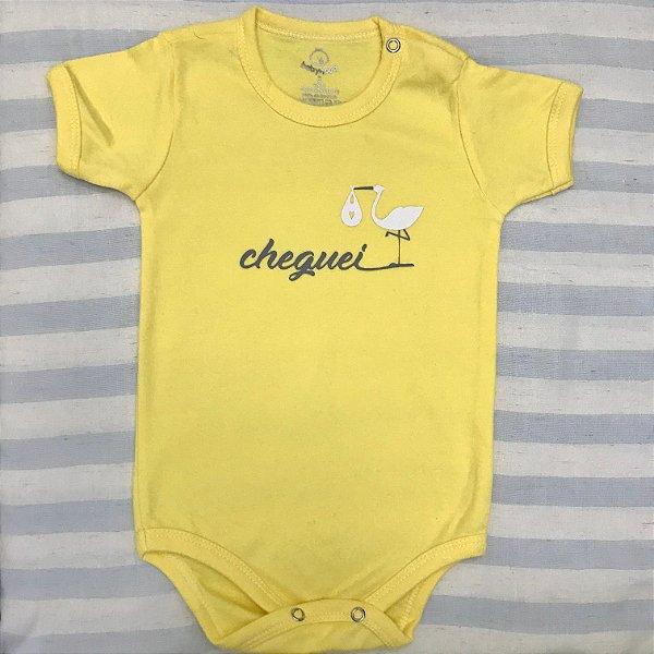 Body de Bebê Cheguei Amarelo