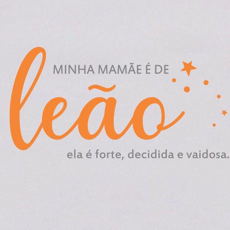 Body de Bebê Mamãe de Leão