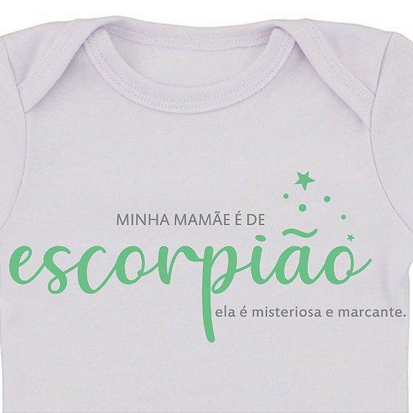 Body de Bebê Mamãe de Escorpião