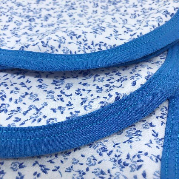 Manta Floral Azul