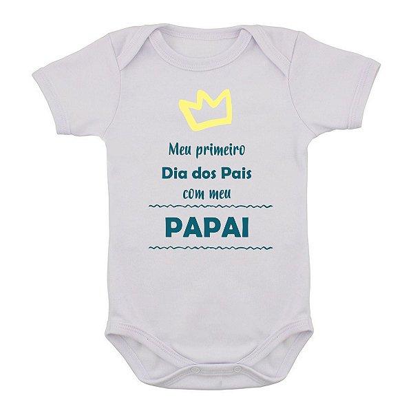 Body  de Bebê Primeiro Dias dos Pais