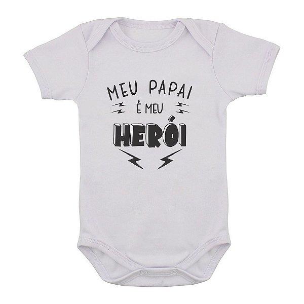 Body de Bebê Papai Herói