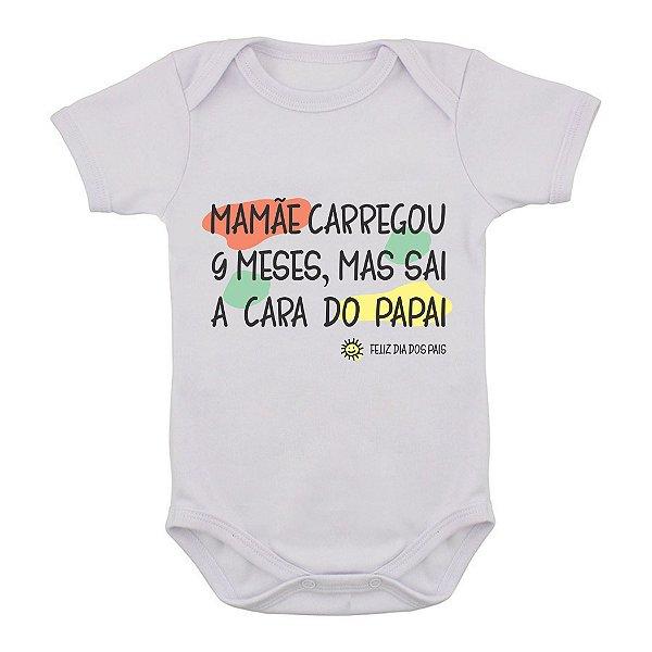 Body de Bebê Mamãe Carregou 9 Meses