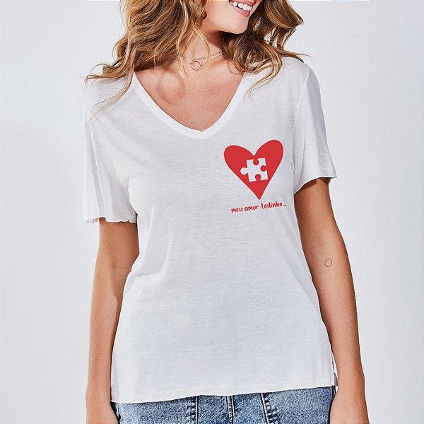 Camiseta Feminina Quebra-Cabeça