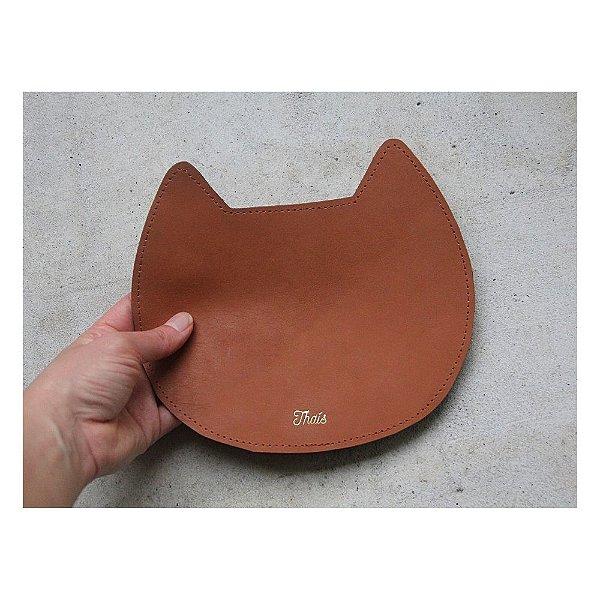 Mousepad de Couro Personalizado Gatinho