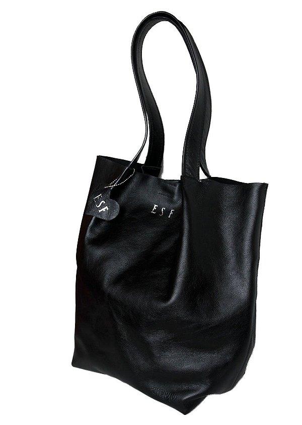 Bolsa Feminina de Couro Minimalista Personalizada Com Chaveiro de Brinde
