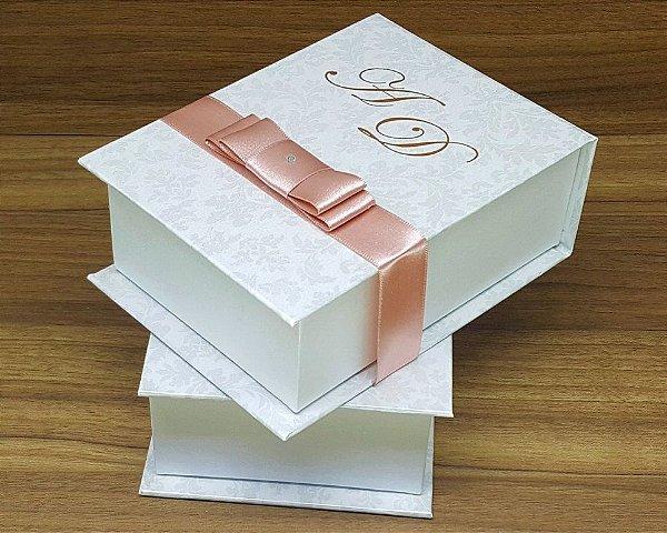 Caixa Padrinhos Monograma 14x10x6cm