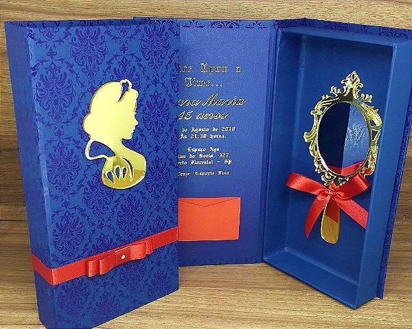 Convite Box 15 anos Personalizado 20x10x2,5cm