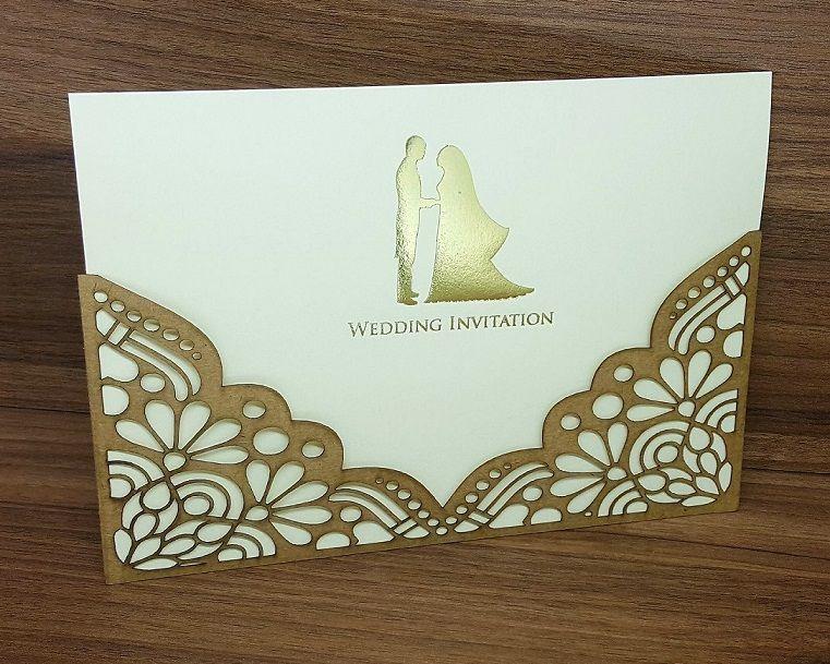Convite Casamento Corte Laser