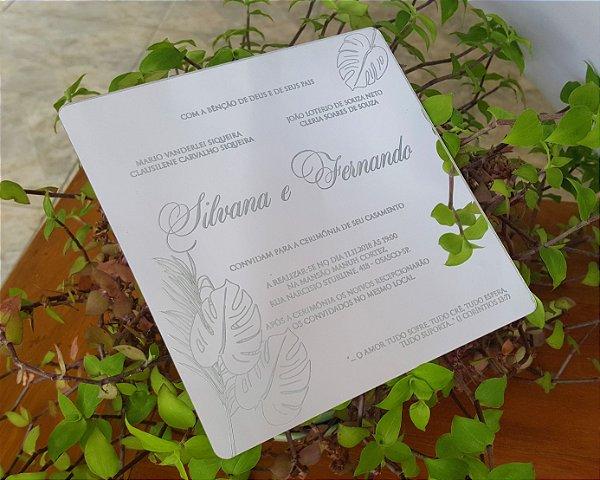 Convite para Casamento Acrilico