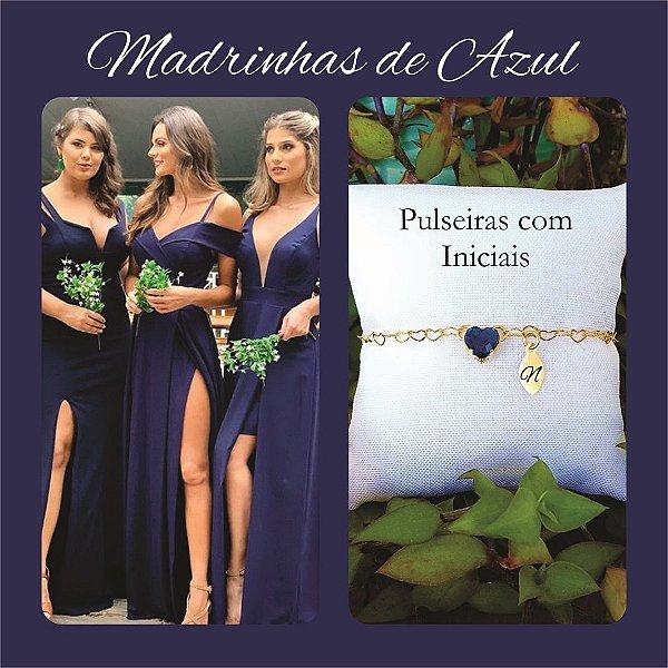 Pulseira Madrinha Azul Marinho