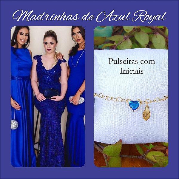 Pulseira para Madrinhas Azul Royal