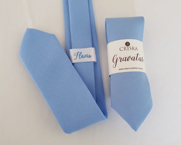 Gravata Padrinhos Azul Serenity Fosca