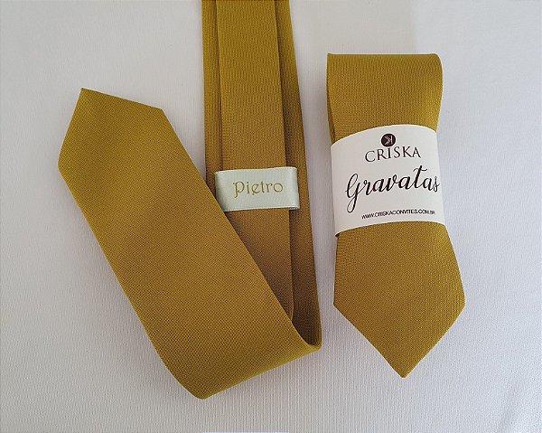Gravata para Padrinhos Dourado Mostarda