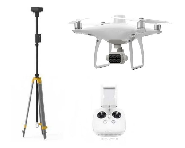 Drone Dji Phantom 4 Multispectral + D-RTK 2 Mobile Station Combo