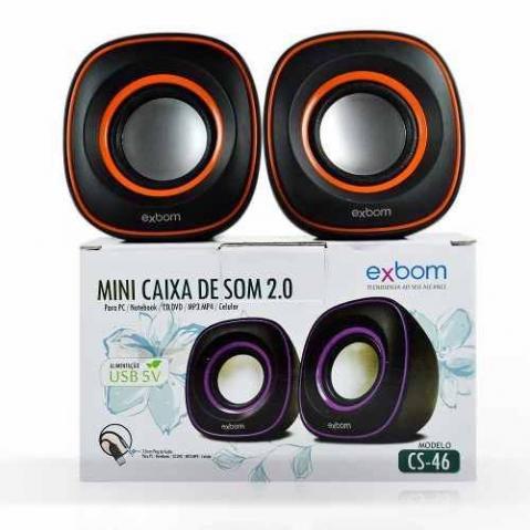 Exbom Caixa De Som 2.0 P/ Notebook E Pc 4w Rms Cs-46