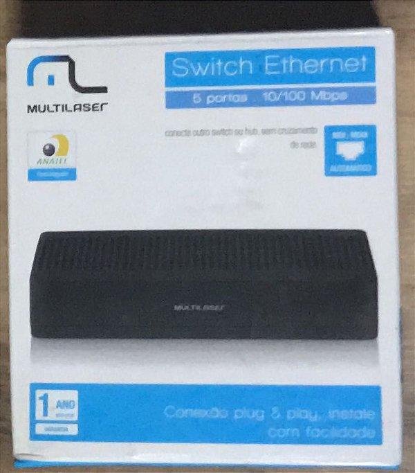 Switch Multilaser 5 portas 10/100Mpbs RE305