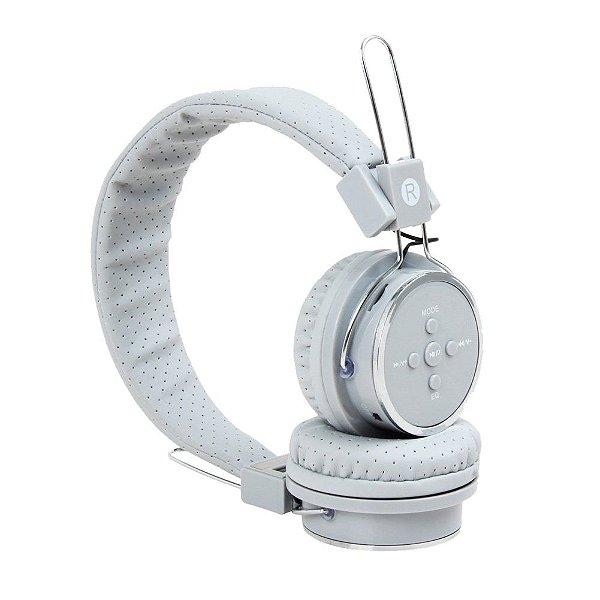 Fone De Ouvido Headphone Sem Fio Bluetooth Micro Sd Fm B-05 Cinza