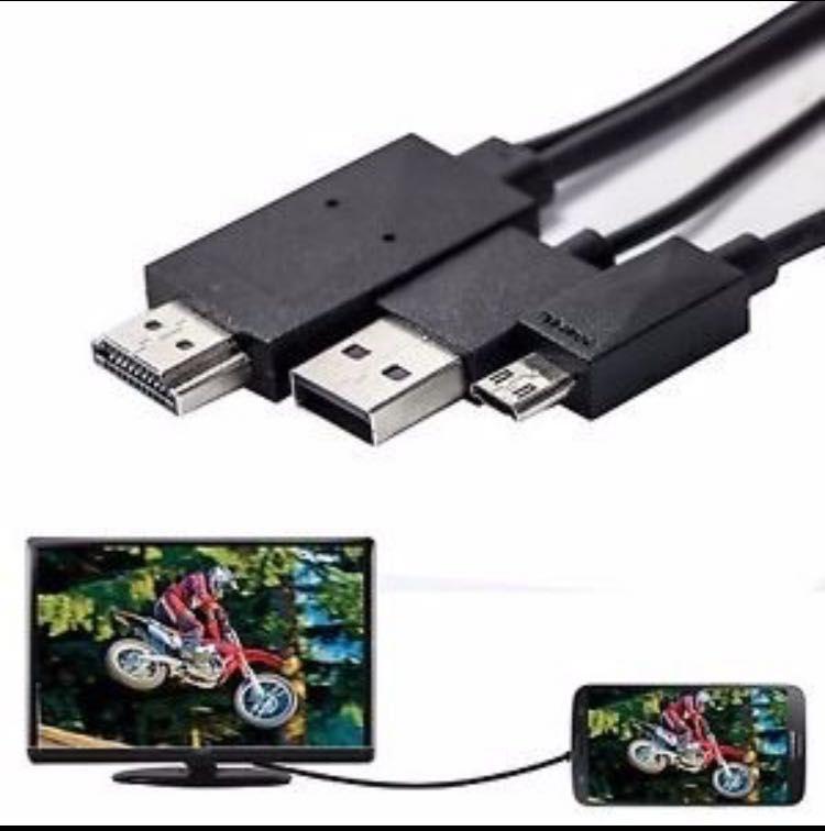 Cabo Adaptado HDMI Micro USB HDTV Celular,game,TV