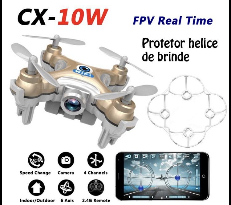 Mini Nano Drone com câmera FPV+Brinde