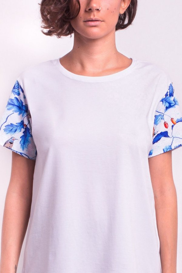 Camiseta Classic Albus Fagales com Estampa de Pássaros