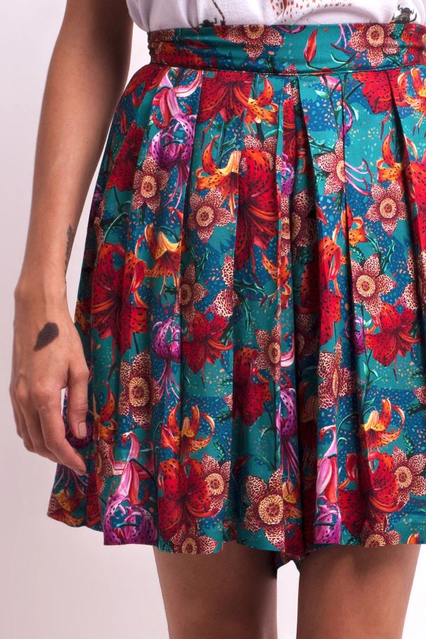 Shorts-Saia Flora Lilium
