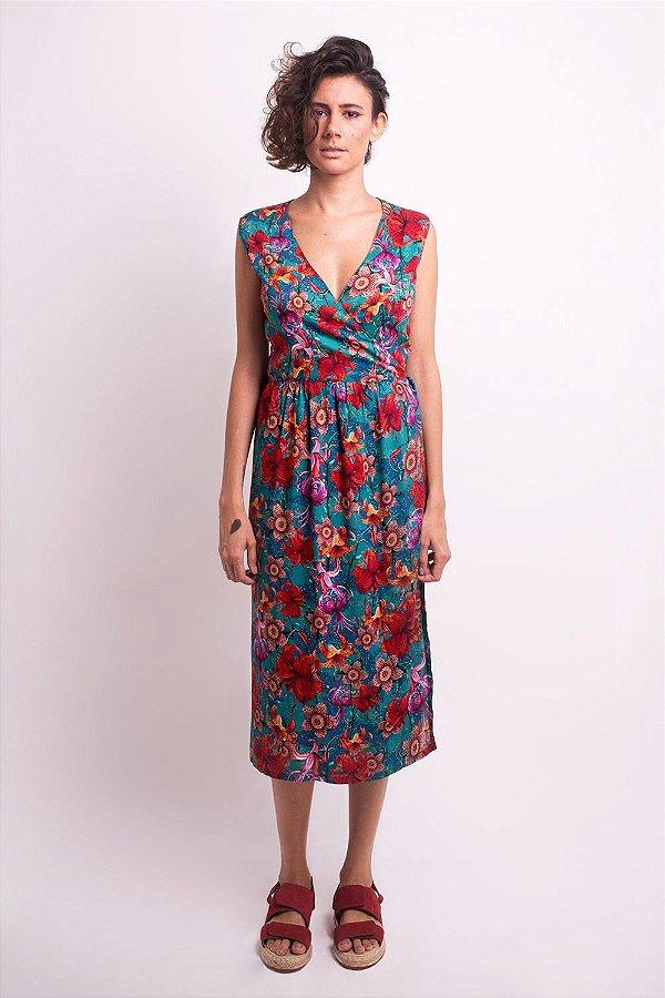 Vestido Midi Flora Lilium