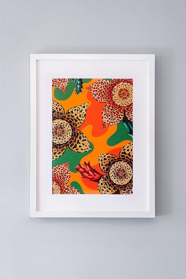 Giclée Fine Art Stapelia Floral de Suculentas em Aquarela