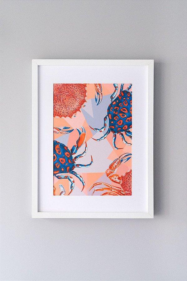 Giclée Fine Art Crustacea de Siris em Aquarela