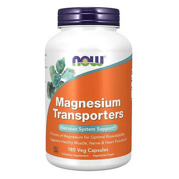 Magnesio Transporters 120mg 180 Cápsulas – NOW FOODS