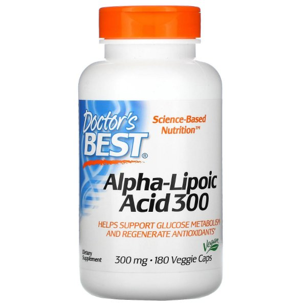 Ácido Alfa Lipóico Doctor´s Best 300 Mg 180 Veggie Caps