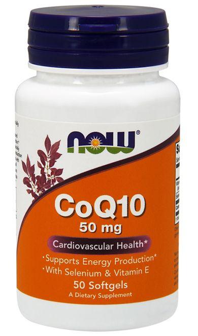 Coq10 50mg (50 softgels) - Now Sports