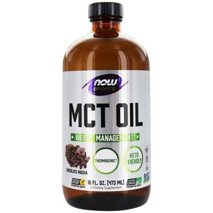 MCT Oil 100% Pure (473ml) - Now Sports