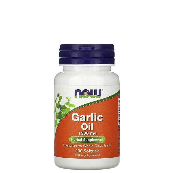 Garlic Oil – Oleo de Alho 1500mg 100 Caps – NOW FOODS