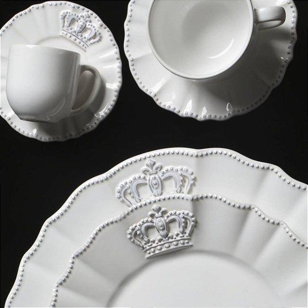 Conjunto de Xícaras para Café Porto Brasil Windsor Branca 112ml 6 peças