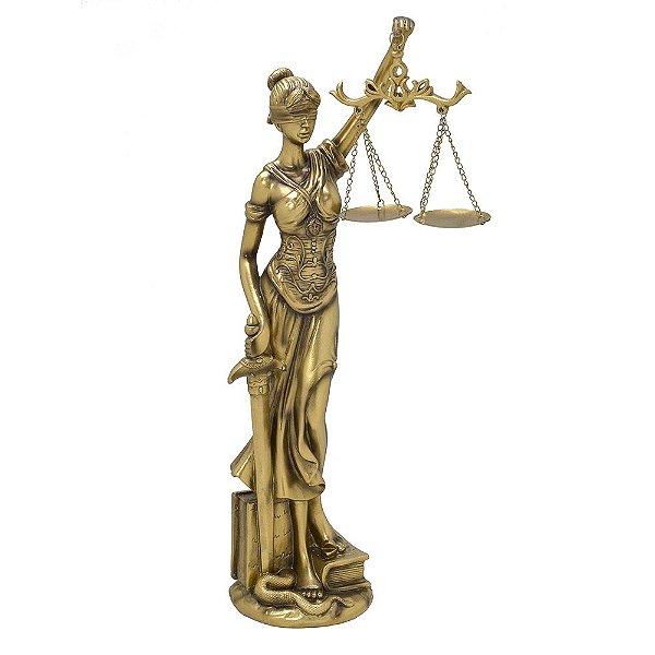 Estatueta Dama da Justiça Dourada 41cm